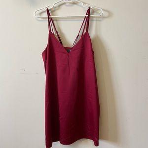 Satin Dark red dress
